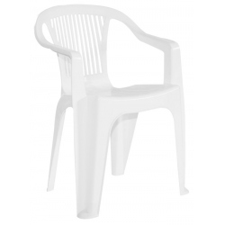 Sillon Plastico Garden Global Blanco